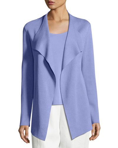 Open Interlock Jacket, Plume, Plus Size