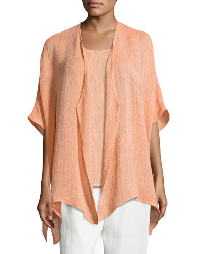 Gauze Easy-Fit Cardigan, Petite