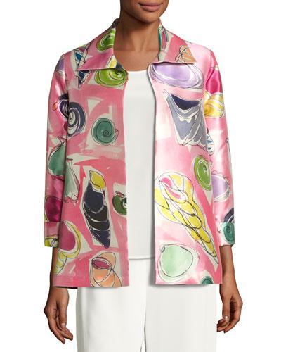 Beachy Keen Printed Lady Jacket, Plus Size