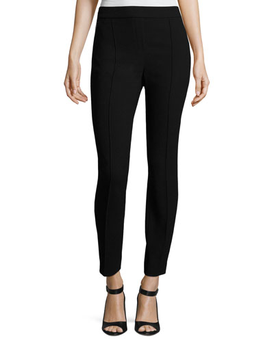 Arabella Straight-Leg Pants, Black