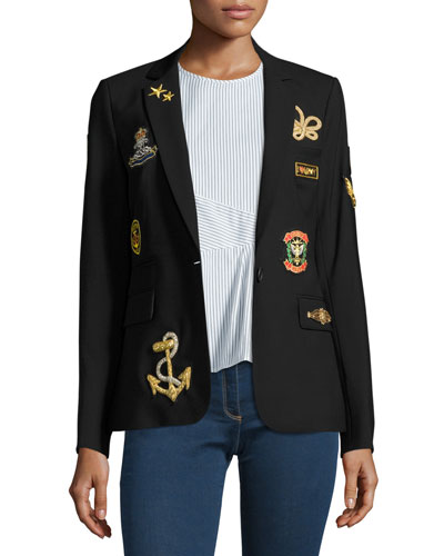 Classic Patch Jacket, Black