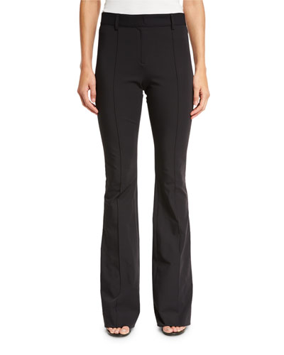 Hibiscus High-Rise Flare Pants, Black