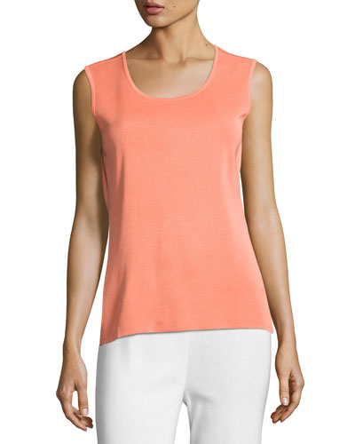 Basic Scoop-Neck Tank, Tart, Petite