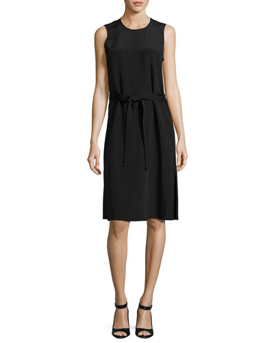 Go Blackbelt Sleeveless Silk-Blend Dress