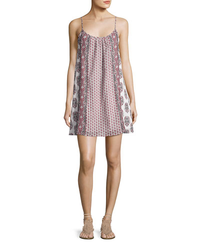 Jorell B Printed Mini Dress, Pink Pattern