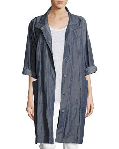 Textured Organic Cotton Steel Coat