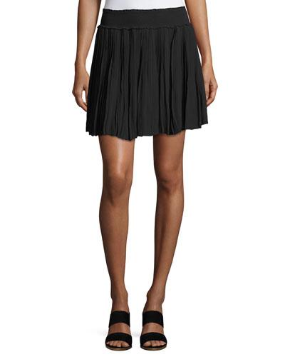 Bridger Smocked Mini Skirt, Black