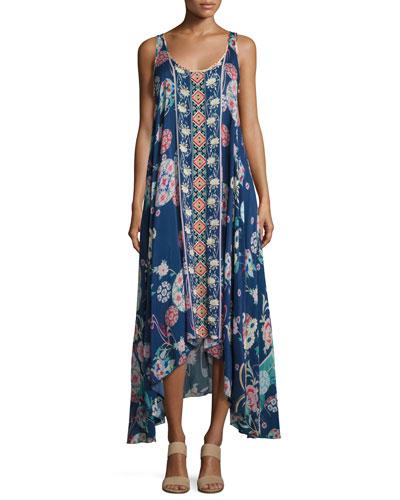 Ellyo Handkerchief-Hem Dress