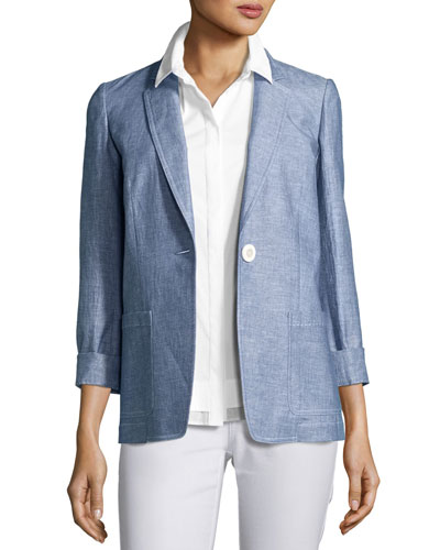 Alba One-Button Blazer, Multi