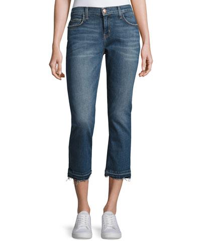 The Cropped Straight-Leg Jeans with Released Hem, Vertigo