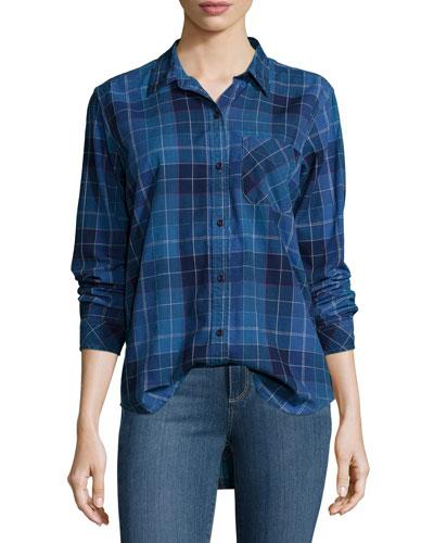The Modern Prep School Shirt in Windowpane Check, Blue