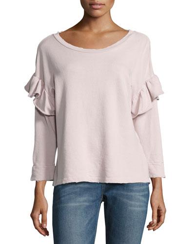 The Ruffle Sweatshirt, Lilac