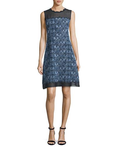 Ophelia Sleeveless Floral-Print A-Line Dress
