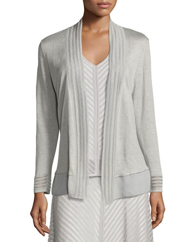 Sheer Striped Cardigan, Petite