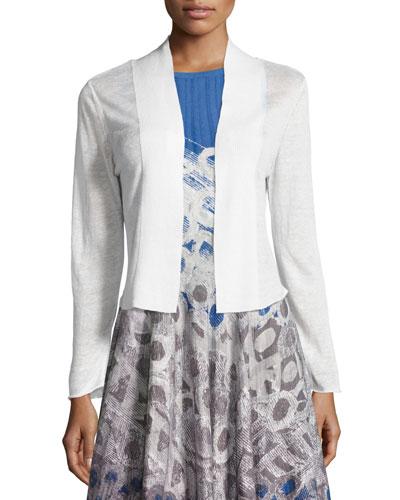 Daybreak Linen-Blend Cardigan, Plus Size