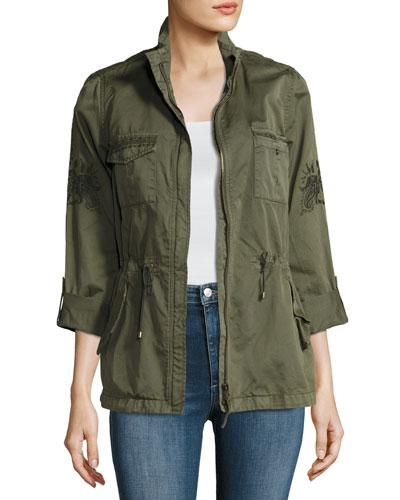 Ceri Twill Utility Jacket, Olive