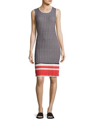 Chevron-Knit Tank Dress, Multi