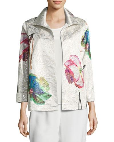 Rise & Shine Jacquard Jacket, Petite