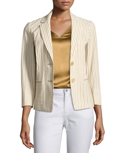 Monte Cristo Striped Seersucker Blazer