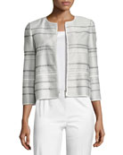 Tilda Translucent Striped Cropped Jacket