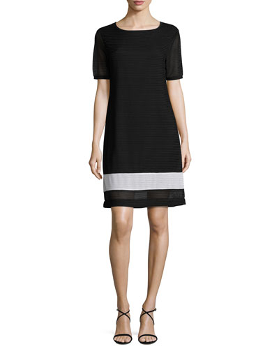 Rochelle Sheath Border-Stripe Dress