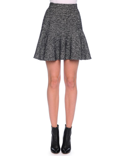 TWEED SKIRT W/ FLIRTY HEM