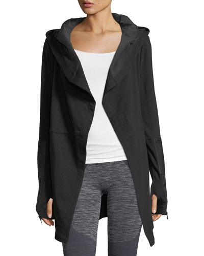 Traveler Long Jacket w/Leather Trim