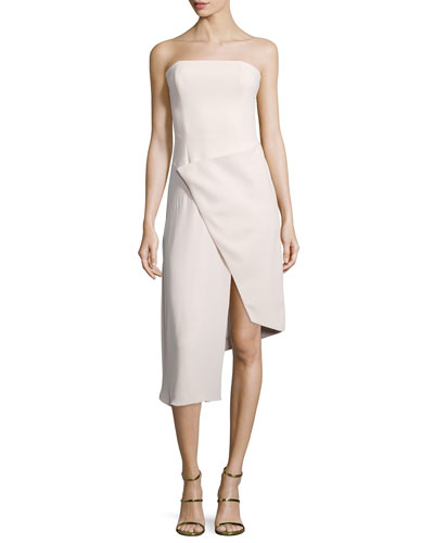 Strapless Front-Wrap Dress