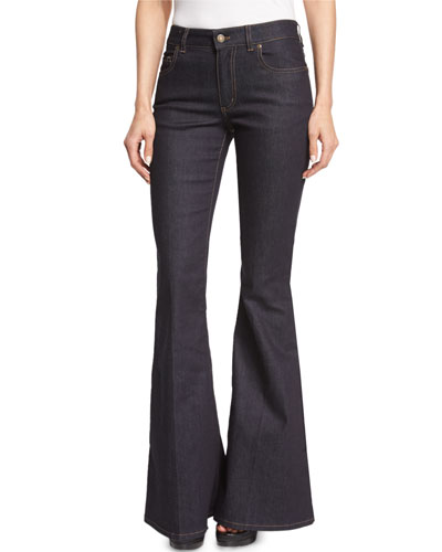 Flare-Leg Stretch-Denim Jeans
