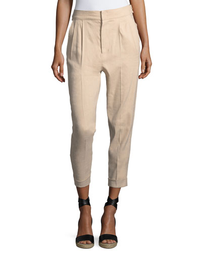 Double-Pleat Cuffed Pants