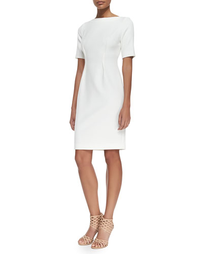 Claire Boat-Neck Dress, Ivory