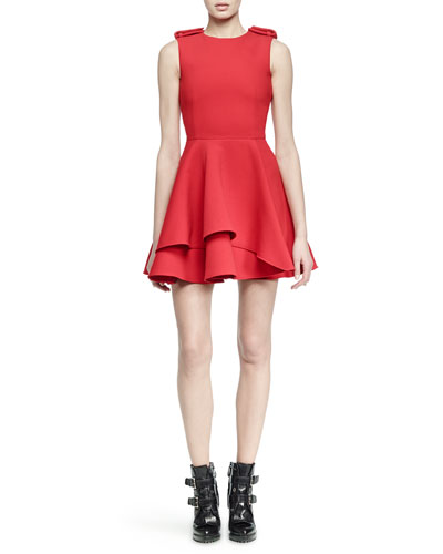 Scuba Fit-and-Flare Dress