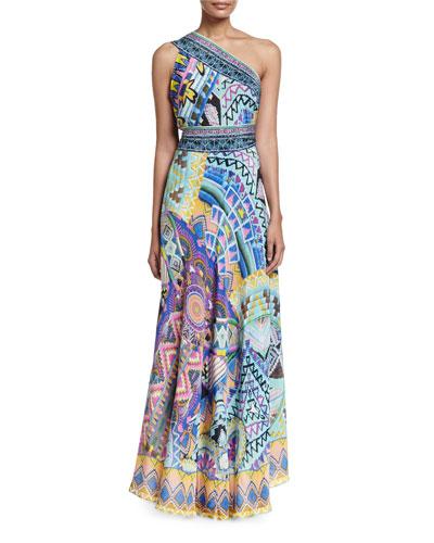 Embellished Sarong Multi-Wear Silk Maxi Dress, Alice in Essaouir