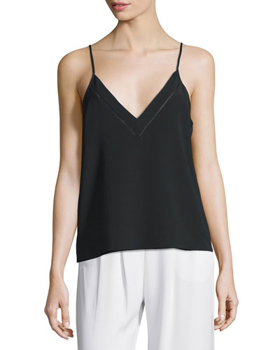 Garland V-Neck Tank, Black