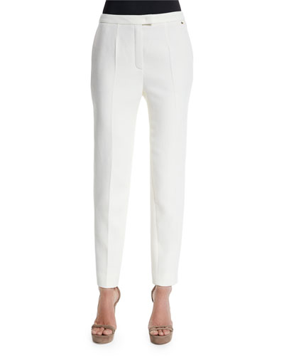 Talarant Slim-Leg Ankle Pants, Off White