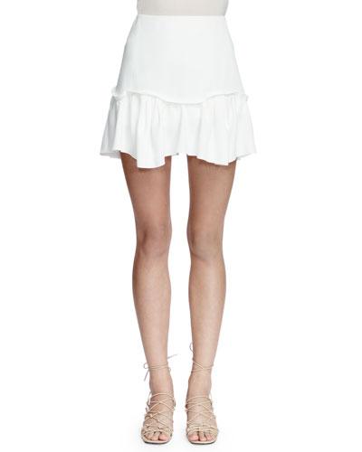 Easy A-Line Mini Skirt, Milk