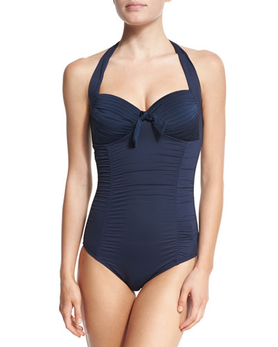 Maillot Soft-Cup Halter One-Piece Swimsuit