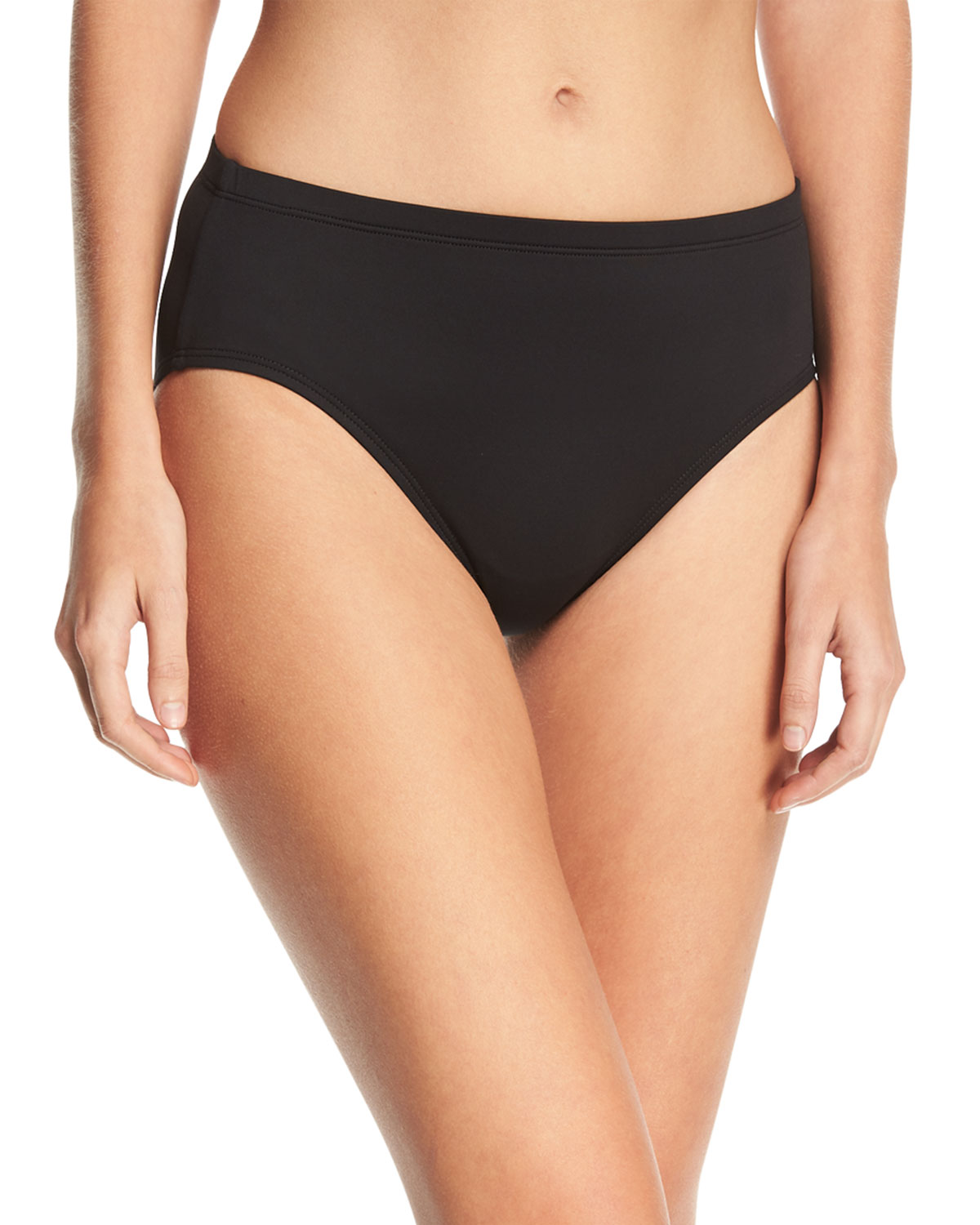 High-Waisted Tummy Toner Swim Bottom Plus Size