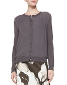 Georgette Overlay Knit Cardigan