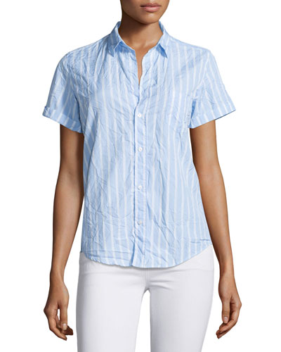 Billy Jean Striped Shirt, Blue/White Stripe