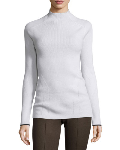 Natasha Ribbed Cashmere Sweater