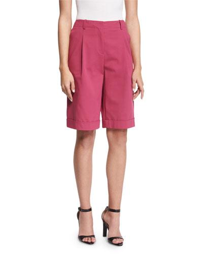 Rivington Pleated-Front Shorts, Sangaria
