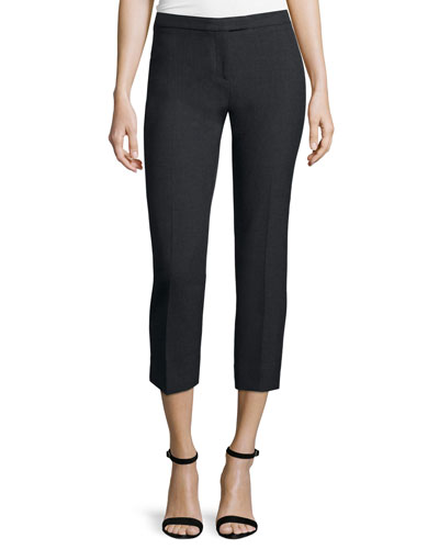 Suiting Cropped Pants, Charcoal