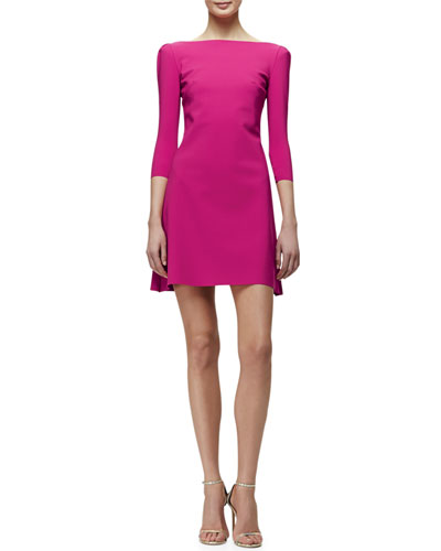 Marcelle 3/4-Sleeve Cocktail Dress