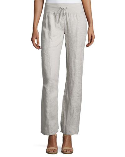 Organic Linen Wide-Leg Pants