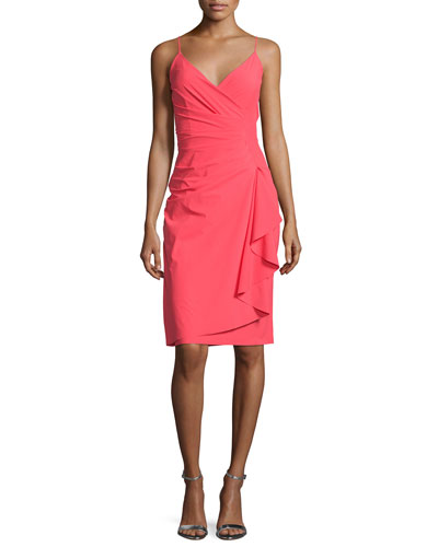 Charnette Sleeveless Ruffled Cocktail Dress