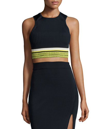 Sheridan Ribbed Sleeveless Crop Top