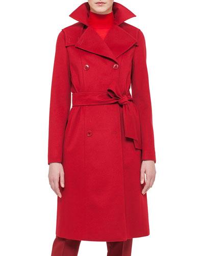 Cashmere-Blend Belted Coat