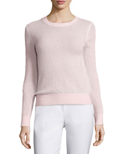 Long-Sleeve Cashmere-Blend Sweater