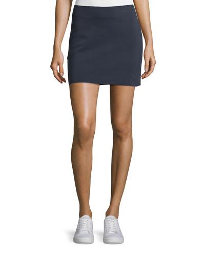 Scuba Mini Skirt, Navy